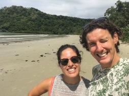 Dodging crocodiles on the beach