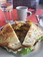 Swingers fried egg sandwich