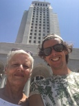 Mum and me at the city hall